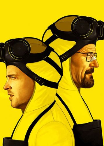 2010's Movie - BREAKING BAD - YELLOW canvas print - self adhesive poster - photo print